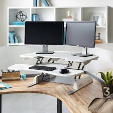 office convert desk to standing adjustable height table top desk