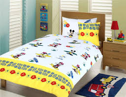 coolest minnie mouse toddler bedding set with twin size wooden bed