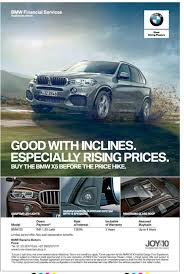 bmw financial payment bmw joyx10 with inclines especially rising price ad advert