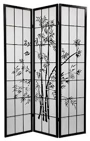 Asian Room Dividers by Lucky Bamboo Room Divider 3 Panels Black Asian Screens And