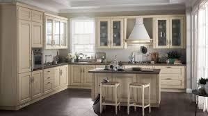 classic italian kitchen cream island cabinets and chairs dark