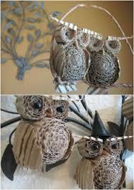 bricoler des cocottes de pin en hiboux pinecone owls owl