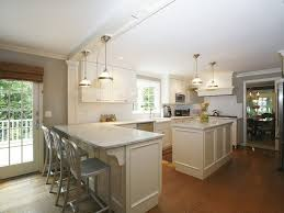 wonderful kitchen lighting with track light also brown floor 3795