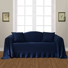 Navy Couch Decorating Ideas Navy Couch Cover Claudiawang Co