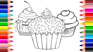 6 amazing cupcake coloring pages for kids setoys youtube
