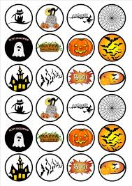 printable halloween paper halloween edible premium wafer paper cupcake toppers 1