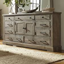 Pine Bedroom Dresser Progressive Furniture Meadow Rustic Pine Door Dresser With 6