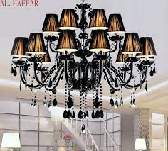 Chandelier With Black Shade And Crystal Drops Black Shade Chrome Crystal Flush Mount Chandelier Chandelier Black