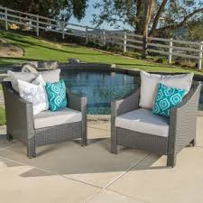 Patio Furniture Without Cushions Outdoor Club Chairs You Ll Wayfair