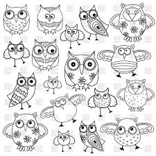 cute funny owls vector image 66795 u2013 rfclipart