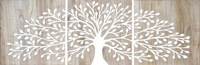triptych carved wood artwork wall decor tree of