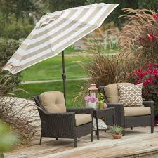 Patio Umbrella Commercial Grade by 9 Ft Market Umbrella With Tilt And Crank With Beige And White