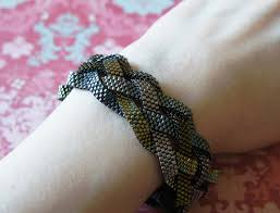 woven bracelet with beads images Braided bead bracelet crafthubs jpg