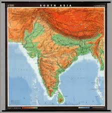 South Asia Blank Map by South Asia Physical Political David Rumsey Historical Map