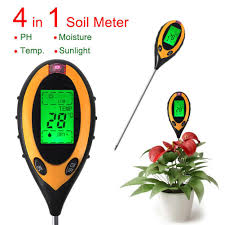 convenient 4 in 1 lcd temperature moisture sunlight ph garden soil