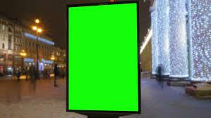 girls walking down the street at night billboard template green
