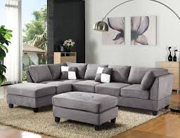 Gray Microfiber Sectional Sofa Furniture Microfiber Sectional Unique Living Room Gray