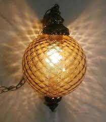 amber lighting danbury ct vintage mid century crackle glass ceiling light globe lamp shade w