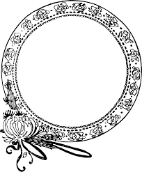 clipart circle flower frame