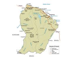 Map Of America And Cities by Maps Of French Guiana Detailed Map Of French Guiana In English