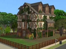mod the sims pavillon jasmine kind of old medieval house for a