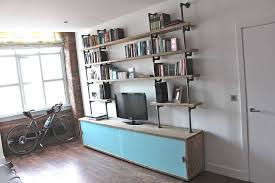 Reclaimed Wood Bookshelf Simeon Reclaimed Wood Shelves With Glass Sliding Doors By Urban