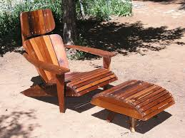 Adirondack Bench Mid Century Modern Adirondack Chair Reclaimed Redwood
