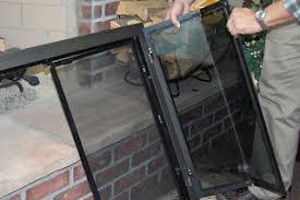 fireplace screen with glass doors fireplace doors guide