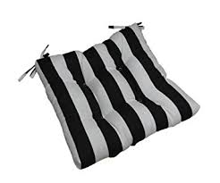 20 X 20 Outdoor Chair Cushions Amazon Com Indoor Outdoor Black And White Stripe Universal