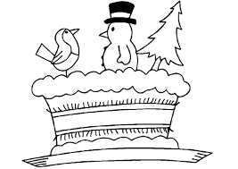 christmas cake coloring pages learn to coloring