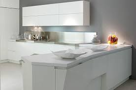 simple and minimalist kitchen design with white decoration 2757