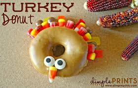 thanksgiving turkey donut dimple prints