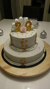 26 ans de mariage 26 ans de mariage couleurs blanc et or gâteau