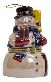 Mr Christmas Ornament - mr christmas snowman music box ornament snowman ornament