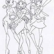 winx flora position coloring pages hellokids