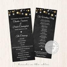 customized wedding programs 54 best wedding program images on wedding program