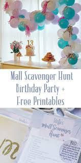 mall scavenger hunt birthday party u2013 darleen meier jewelry