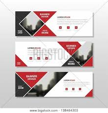 layout banner design red black triangle square abstract corporate business banner