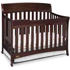 Convertible Cribs With Toddler Rail by Graco Lennon 4 In 1 Convertible Crib Espresso Walmart Com