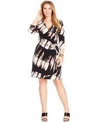 michael michael kors plus size printed faux wrap dress macys com