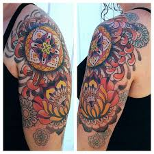 colorful ornaments tattoo by gemma pariente tattoomagz
