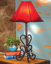 rustic table lamps tucson iron table lamp black forest decor