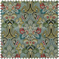 Gry Colour Komkotar Fabrics Rich Detail Floral Damask Upholstery Fabric In