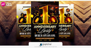 flyer template anniversary party flyer one year psd flyer