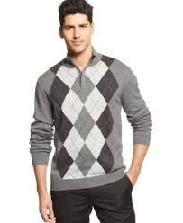tasso elba quarter zip argyle sweater sweaters men macy u0027s
