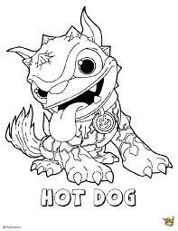 Hot dog pose est un coloriage de Skylanders