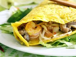 cuisine vietnamienne traditionnelle banh xeo crêpe vietnamienne made in cooking