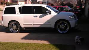 nissan armada with black rims 2007 armada lowered with 26s nissan armada forum armada