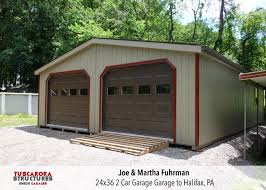 2 car garages for sale customize to fit your needs a 24x36 2 car garage we built and assembled for joe martha fuhrman in halifax