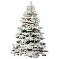 decoration ideas pre lit flocked frosted tree with snow